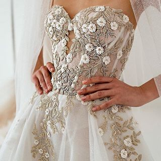 upclose and personal this embellished bodice on this