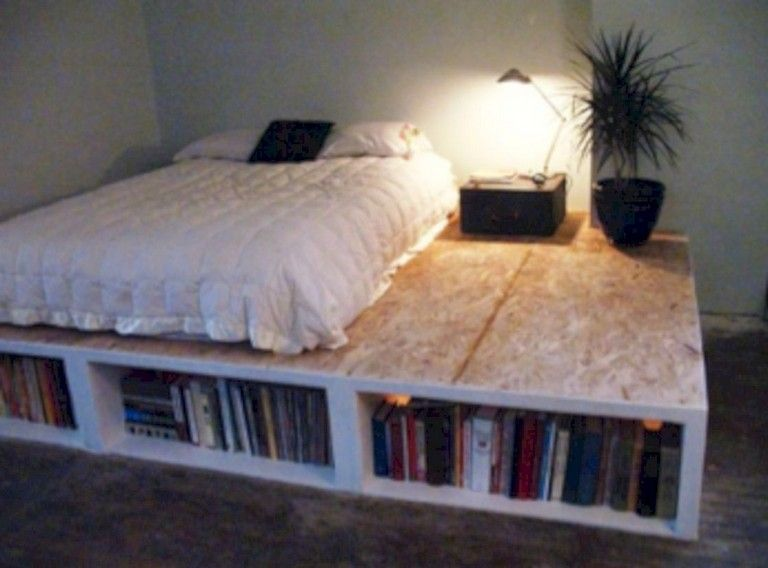 30 Stunning Storage Ideas For Small Apartment Spaces Bed Frame
