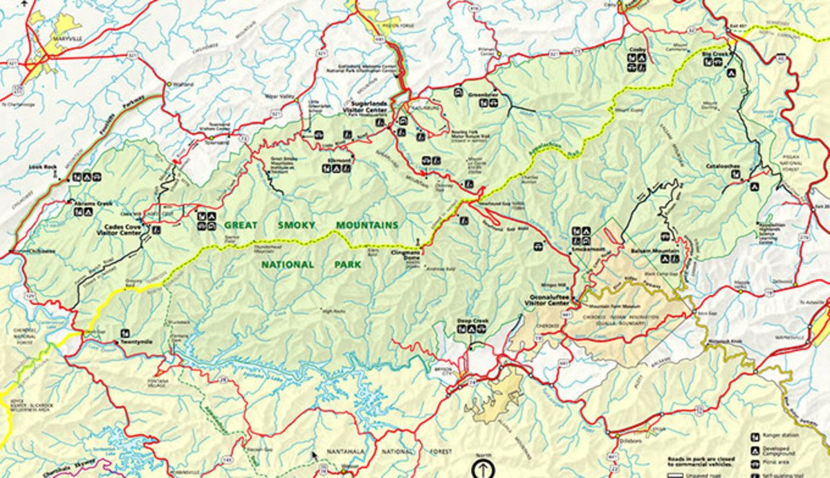 Great Smoky Mountains National Park Map PDF - My Smoky Mountain Park ...