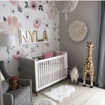 Jolie Wallpaper Mural Baby room furniture, Baby decor