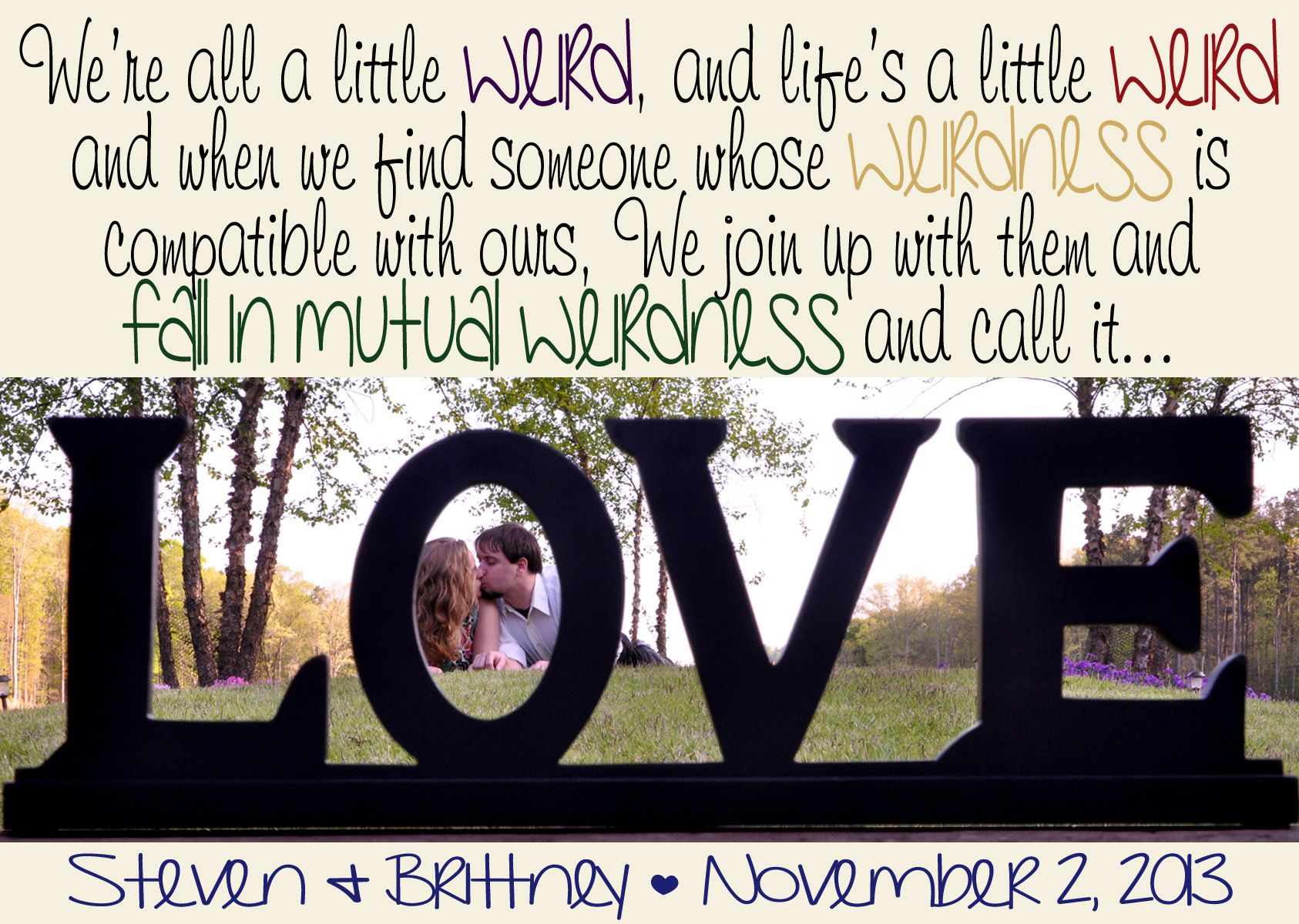 Awesome Wedding Save The Date! Dr. Seuss Quote And Cute Design!