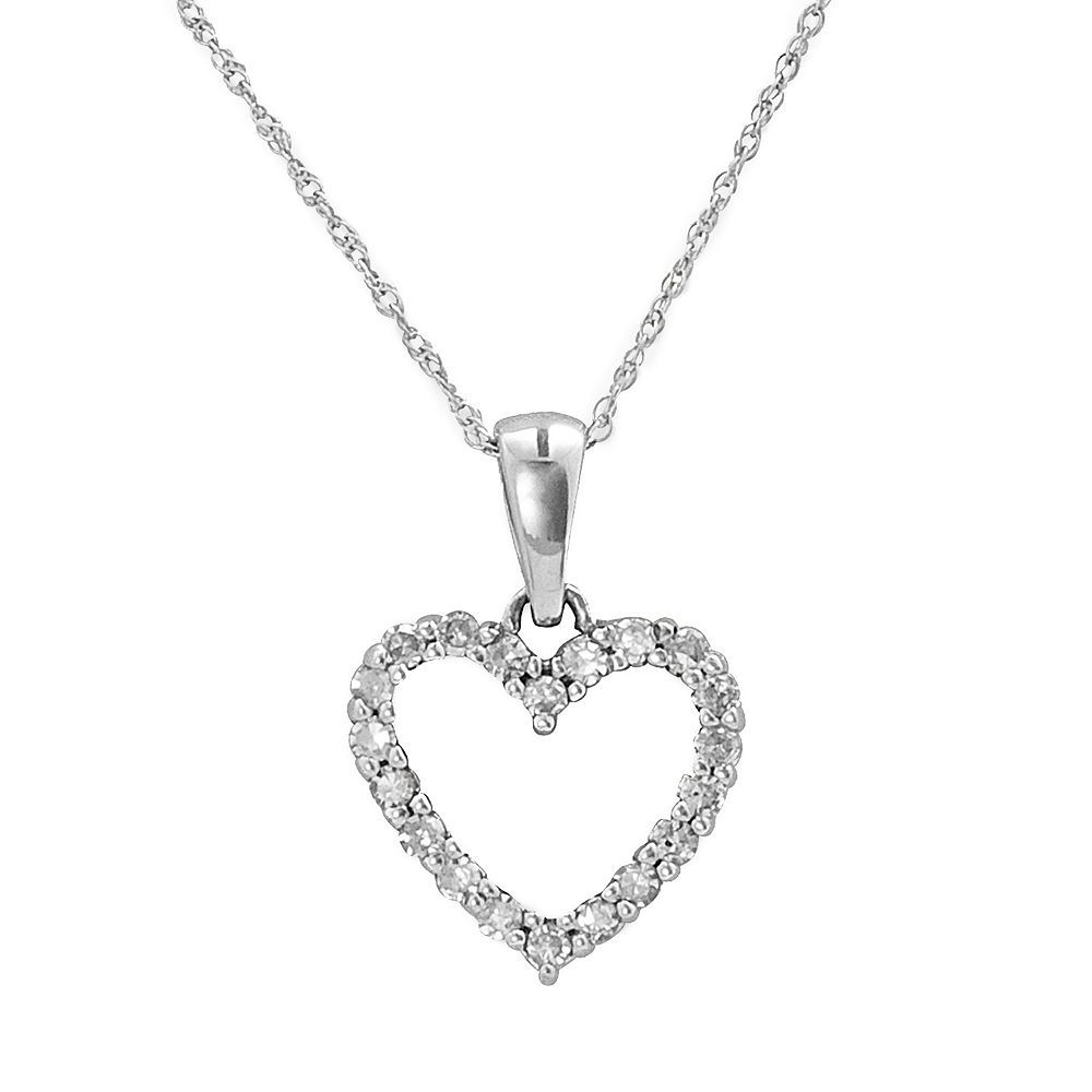 Fine jewelry ct tw diamond 10k yellow gold heart pendant necklace fine jewelry ct tw diamond 10k yellow gold heart pendant necklace mozeypictures Gallery