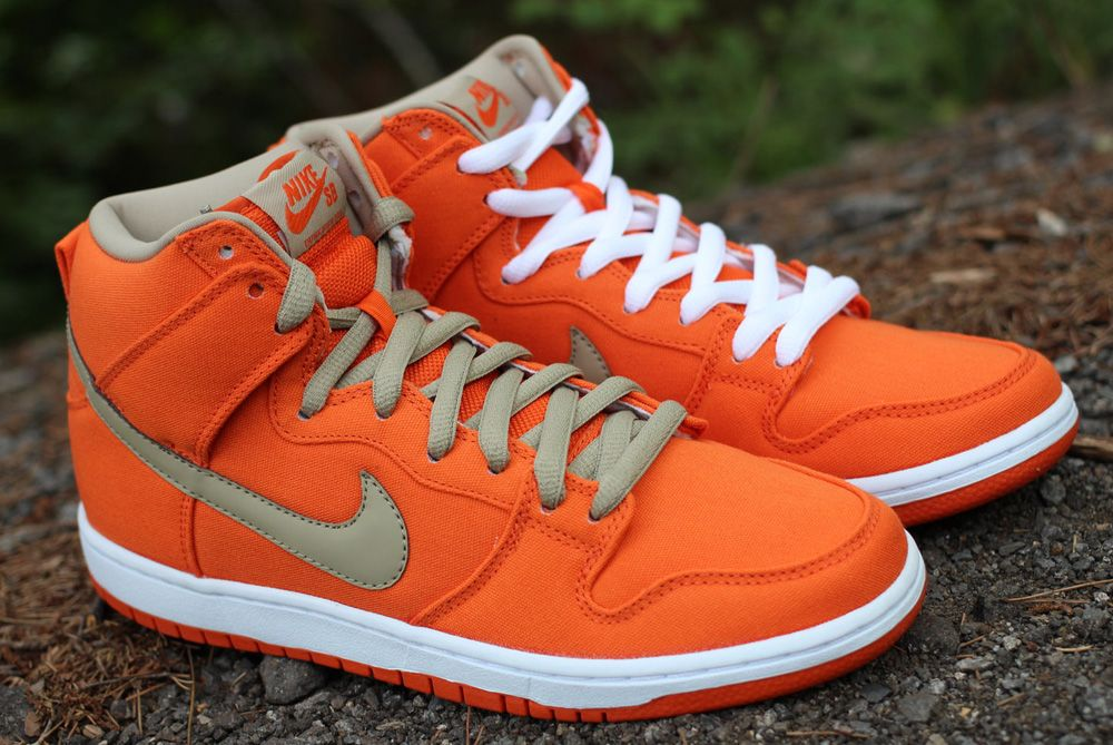 Nike Sb Dunk High Urban Orange Eu Kicks Sneaker Magazine Looks Masculino Sapatos Masculino