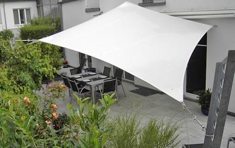 sonnensegel f r terrasse und balkon terrassenw nde pinterest sonnensegel garten und. Black Bedroom Furniture Sets. Home Design Ideas