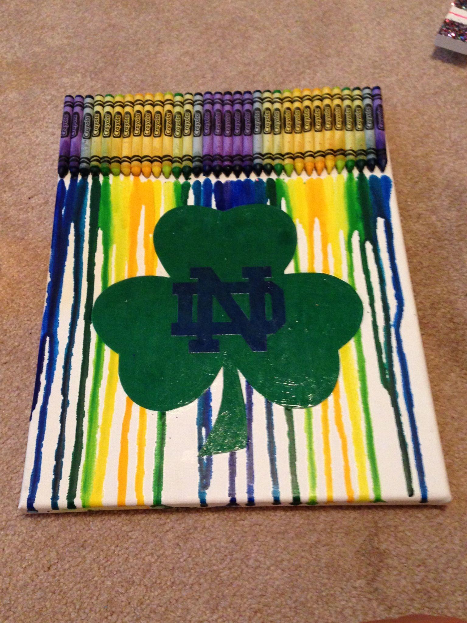 Notre Dame Crayon melt! Notre dame crafts, Notre dame