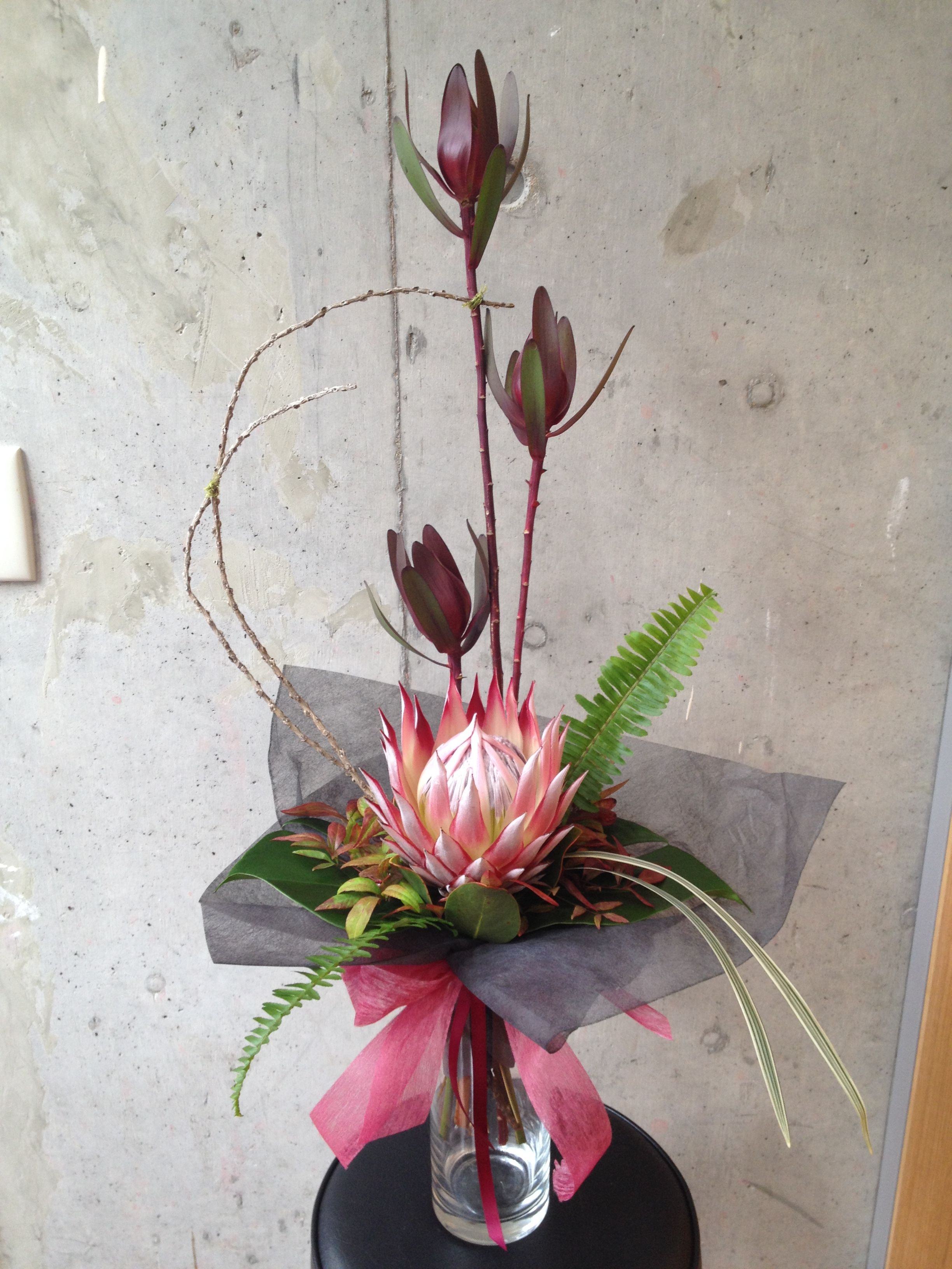Hand Tied Formal Linear Floral Arrangements Pinterest Flowers