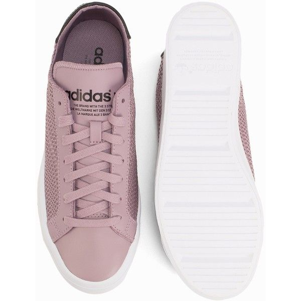 huge selection of e029d d6536 Adidas Originals Court Vantage W (92) ❤ liked on Polyvore featuring shoes,  adidas originals shoes, round cap, laced shoes, lace up shoes and  embellished ...