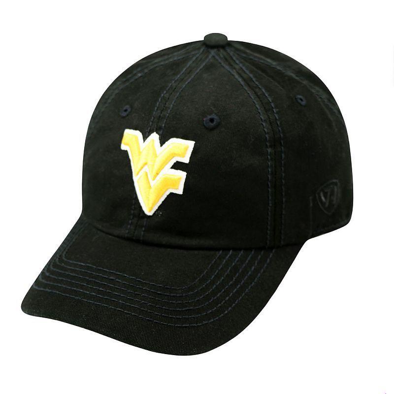 Adult Top Of The World West Virginia Mountaineers Crew Baseball Cap, Black