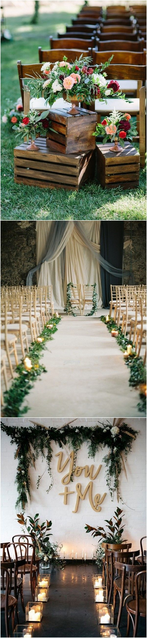 Wedding decorations ideas at home  chic rustic wedding ceremony decoration ideas rusticdecor  DIY