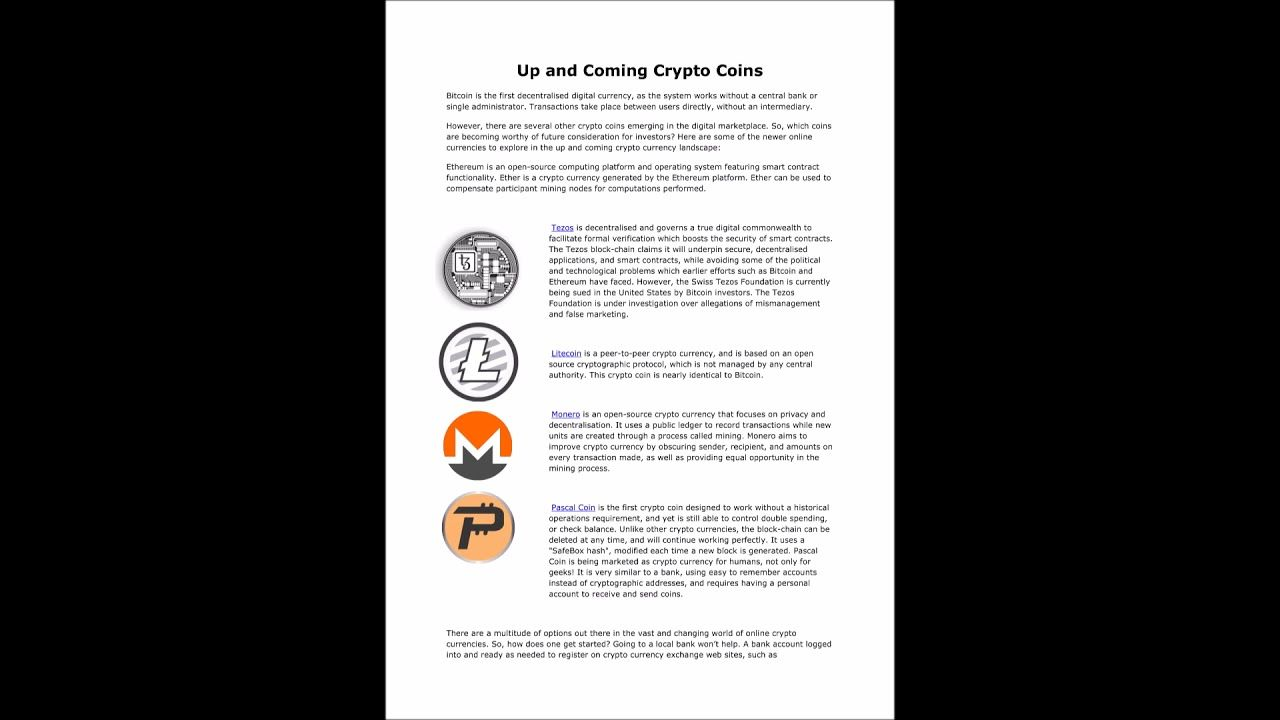 Up And Coming Crypto Coins (With images) Crypto coin