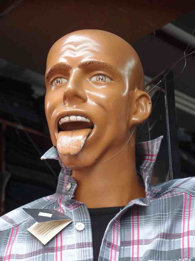Creepy Mannequin Man Sticking His Tongue Out Kind Of Creepy - These 20 creepy mannequins are the stuff nightmares are made of