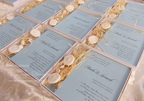 Beach Wedding Invitation In A Box 40 X 3d Tropical Or Destination Invita Wedding Invitations Online Rustic Beach Wedding Invitations Beach Wedding Invitations