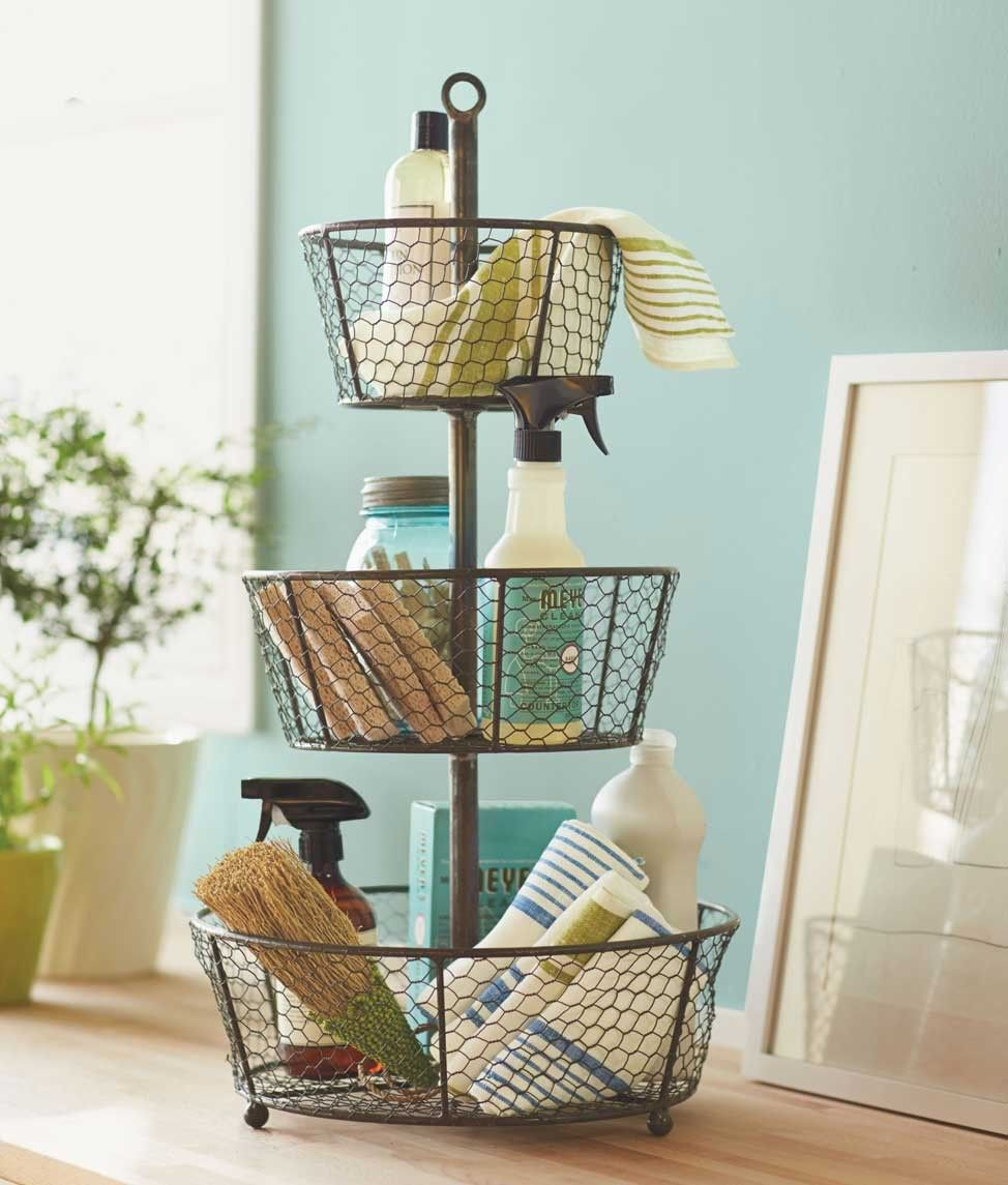 Epergne Tiered Wire Basket | Organizing, Organizations and Storage