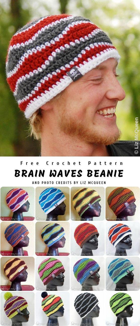 Crochet Brain Waves Beanie | Crochet/Häkeln und DIY | Pinterest ...