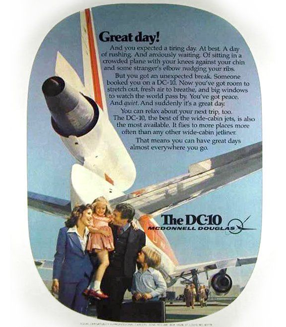McDonnell Douglas DC-10 Ad, early 1970's