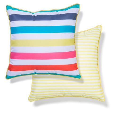 Outdoor Chair Cushion Bright Stripes Kmart