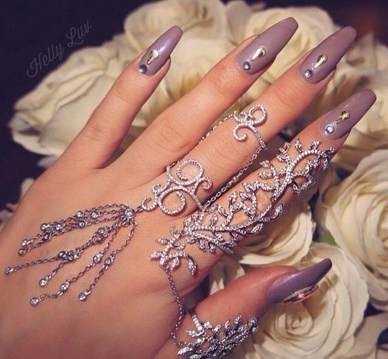 Sparkling Silver Hand Jewelry Set | Shop, Nail nail and Make up