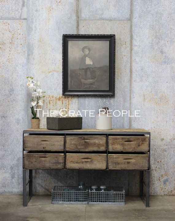 The Sofa Crate Table Vintage Farm Crates And Barn Wood Custom Furniture Vintage Wood Crates Crate Table Custom Made Furniture