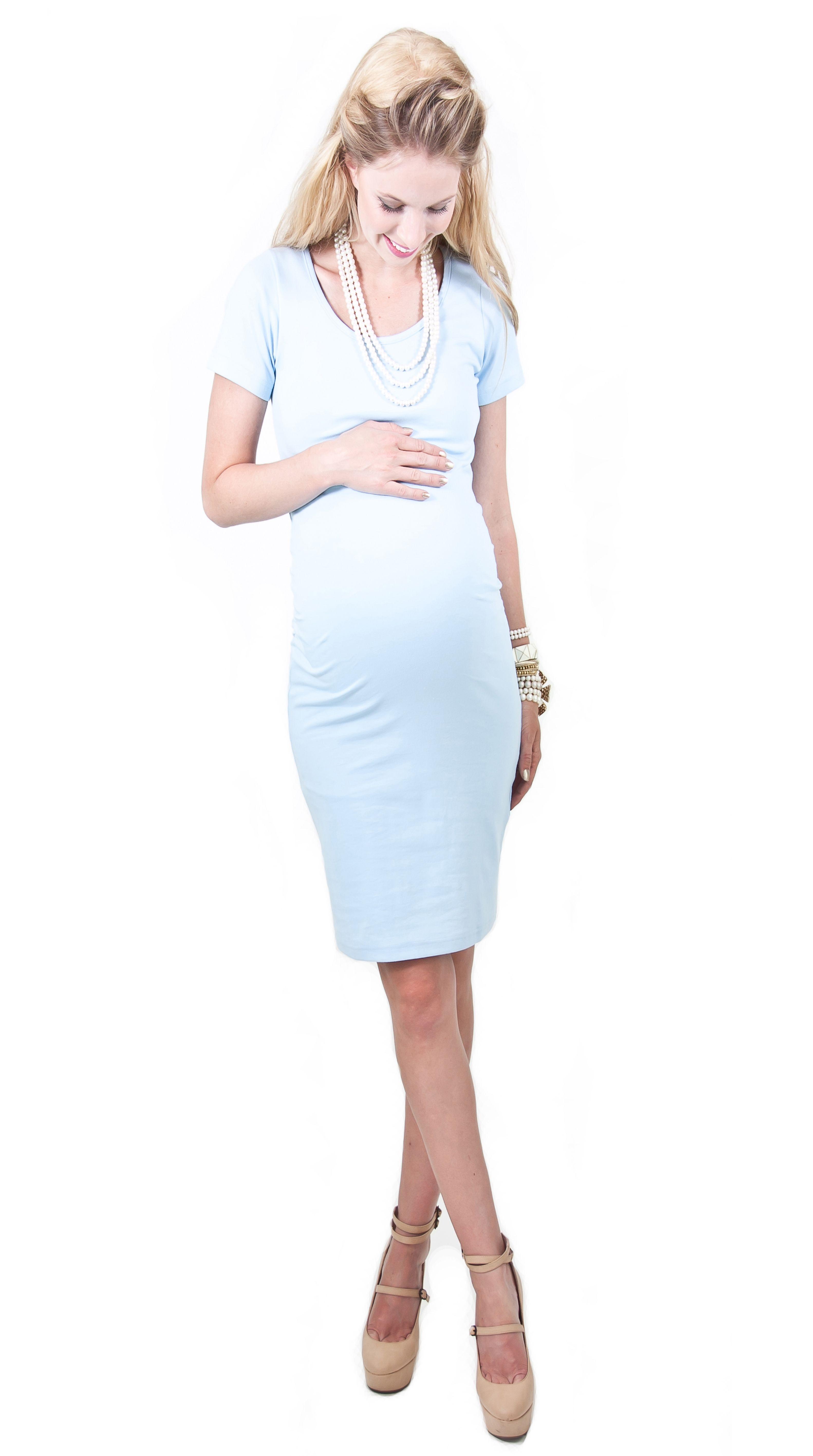 Baby Shower Dress  Sky Blue Madeleine Maternity