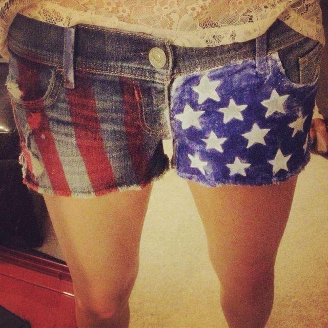 3236012bf5b2 My homemade American pride shorts!