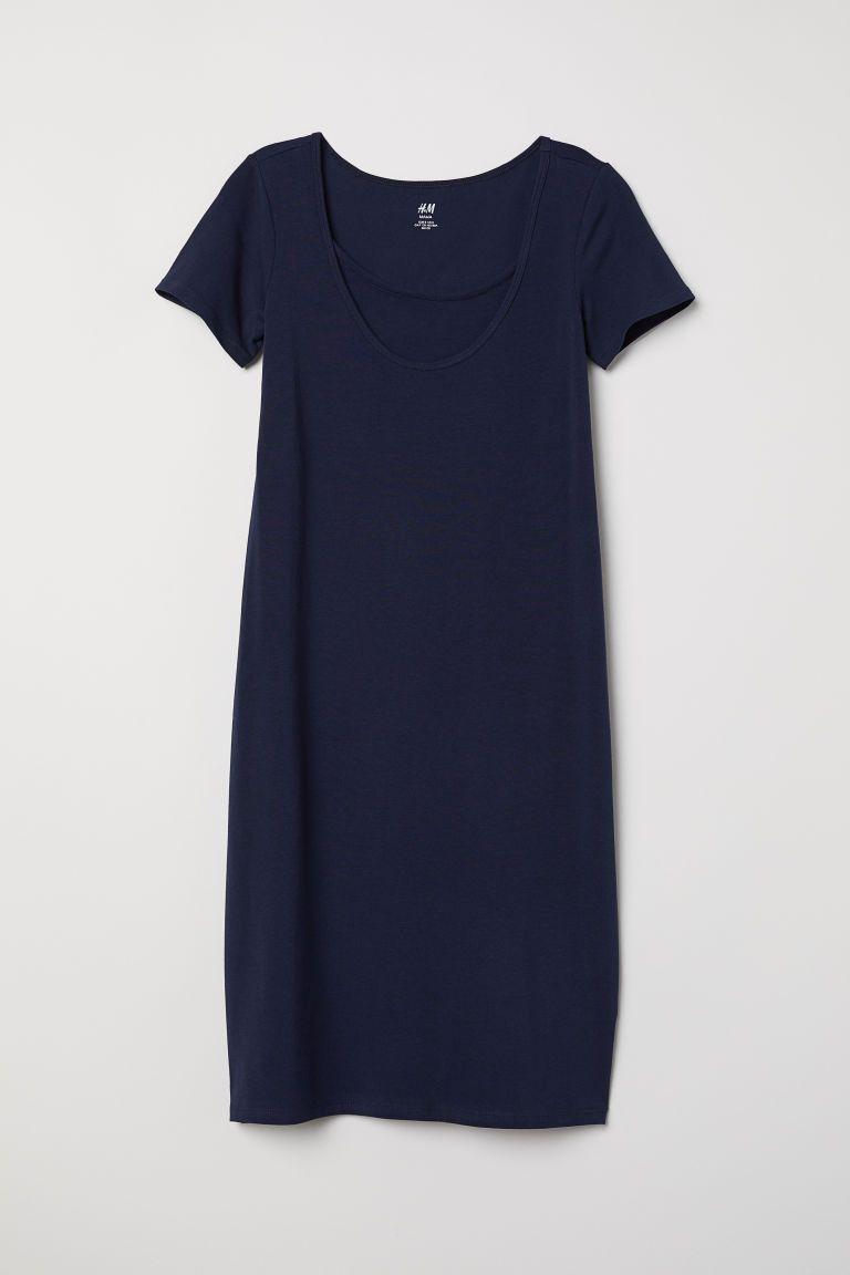 328cad3f2f7 MAMA Nursing Dress - Dark blue - Ladies