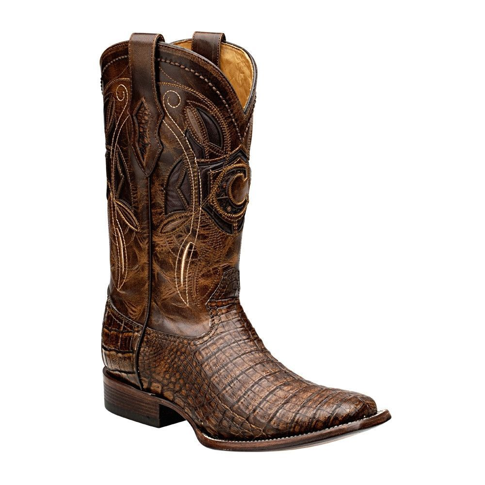 b0dc75eef5d Cuadra Men's Square Toe Caiman Belly Porto Maple Cowboy Boots   It's ...