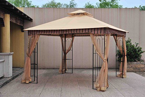 Canopies Gazebos And Pergolas Sunjoy Lgz747psta 10 X 10 Lansing Gazebo With Netting Read More Reviews Of The Gazebo Pergola Plans Roofs Outdoor Gazebos