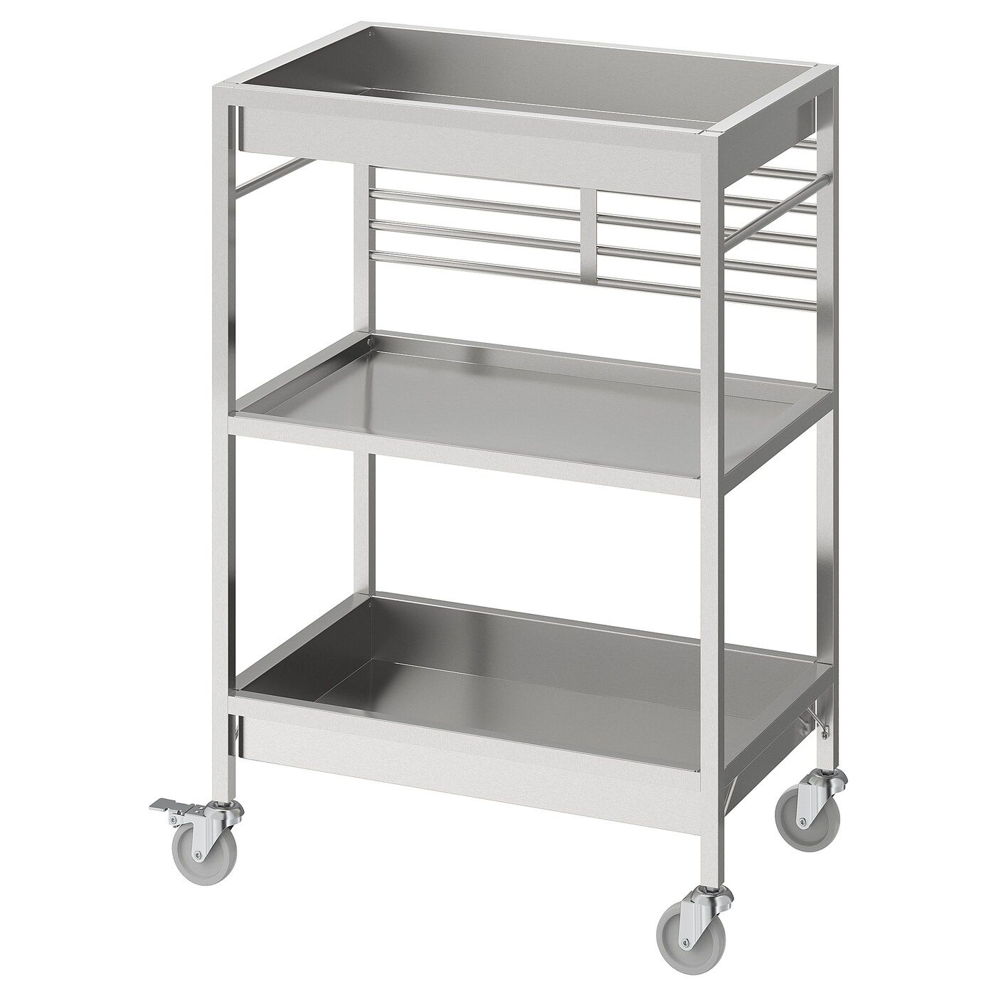 Kungsfors Kitchen Cart Stainless Steel 23 5 8x15 3 4 With