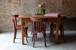 Ensemble Années Table Et Restaurant Bistrot Rustique 50 Chaises Qdthrs