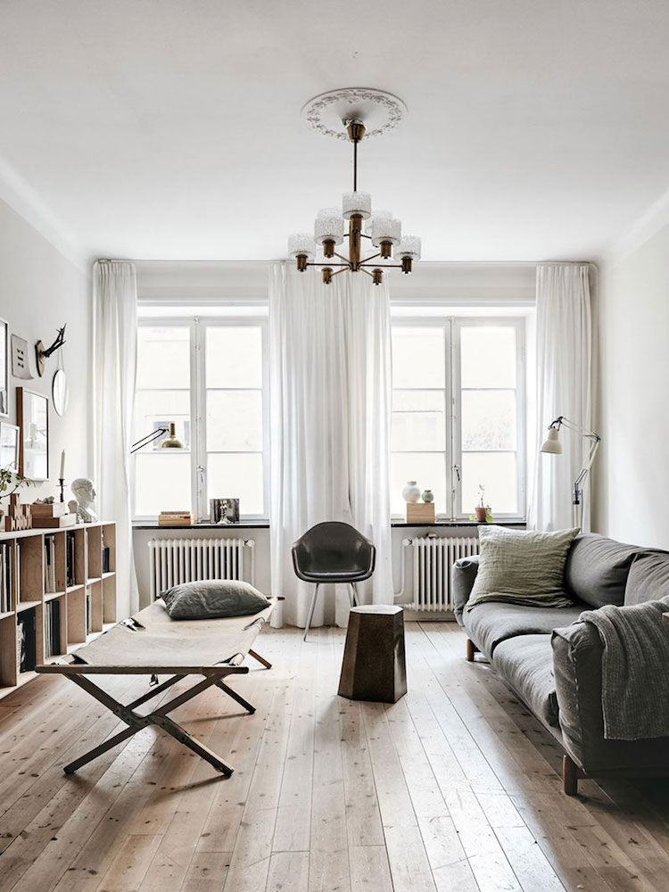 My Scandinavian Home A Delightful Pared Back Swedish Family Home Curtains Living Room Living Room Scandinavian Cozy House