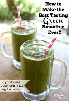 Everything you need to know to make the best tasting green smoothie ever - So good even your kids will beg for more! Complete with tips, tricks and a tried and true green smoothie recipe.