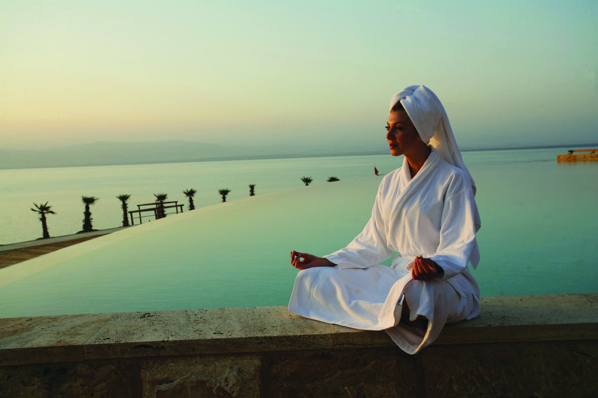 Relaxing by the infinity pool at the Dead Sea. #FriFotos #Jordan