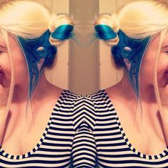 Blonde Hair With Blue Underneath Google Search Blonde And Blue