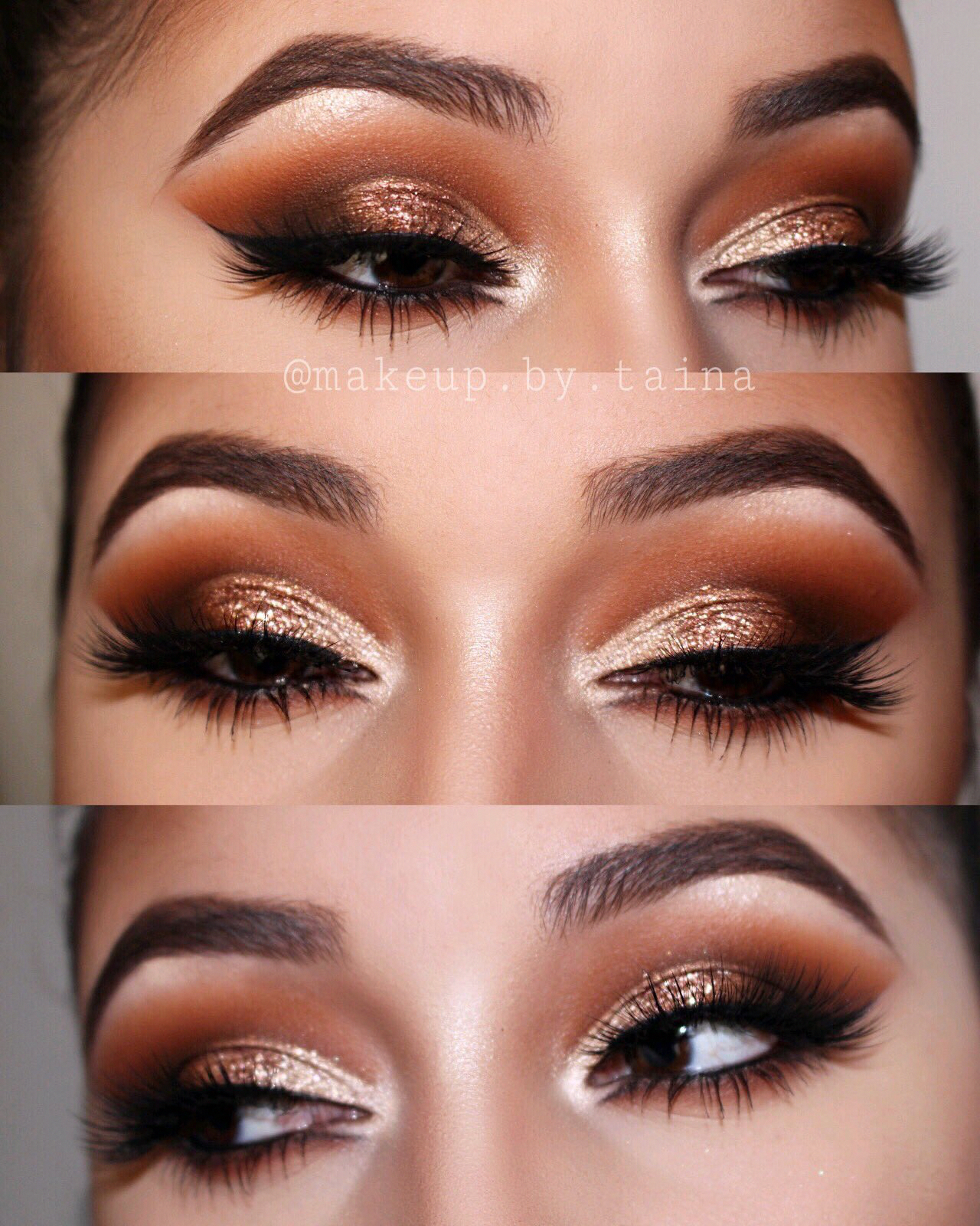 Burnt orange gold Smokey eye smokeyeyemakeup Orange eye
