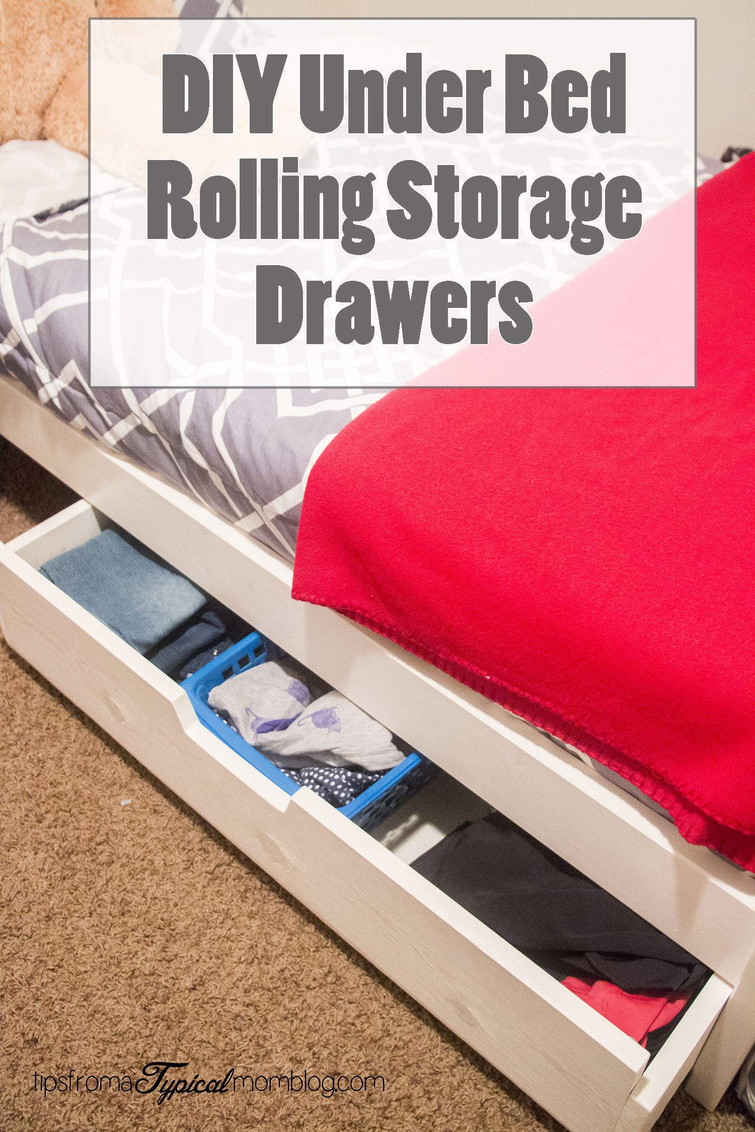 DIY Under Bed Rolling Storage Drawers Tutorial | Storage Drawers, DIY  Tutorial And Drawers