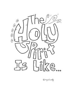 The Holy Spirit is Like.... an activity booklet of similes
