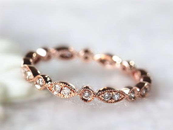 14k whiteyellowrose gold bezel diamond eternity band women diamond anniversary ring wedding