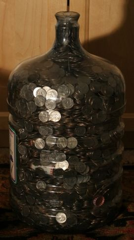How Many Quarters Can Fit In A Five Gallon Water Jug The World May Never Know Oh Wait I Know Money Saving Challenge Saving Coins 52 Week Saving Plan
