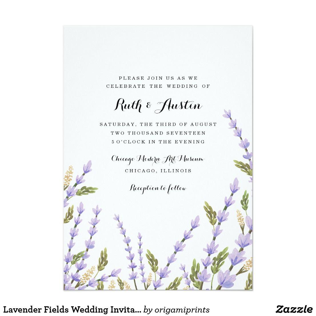 Lavender Fields Wedding Invitation | Weddings