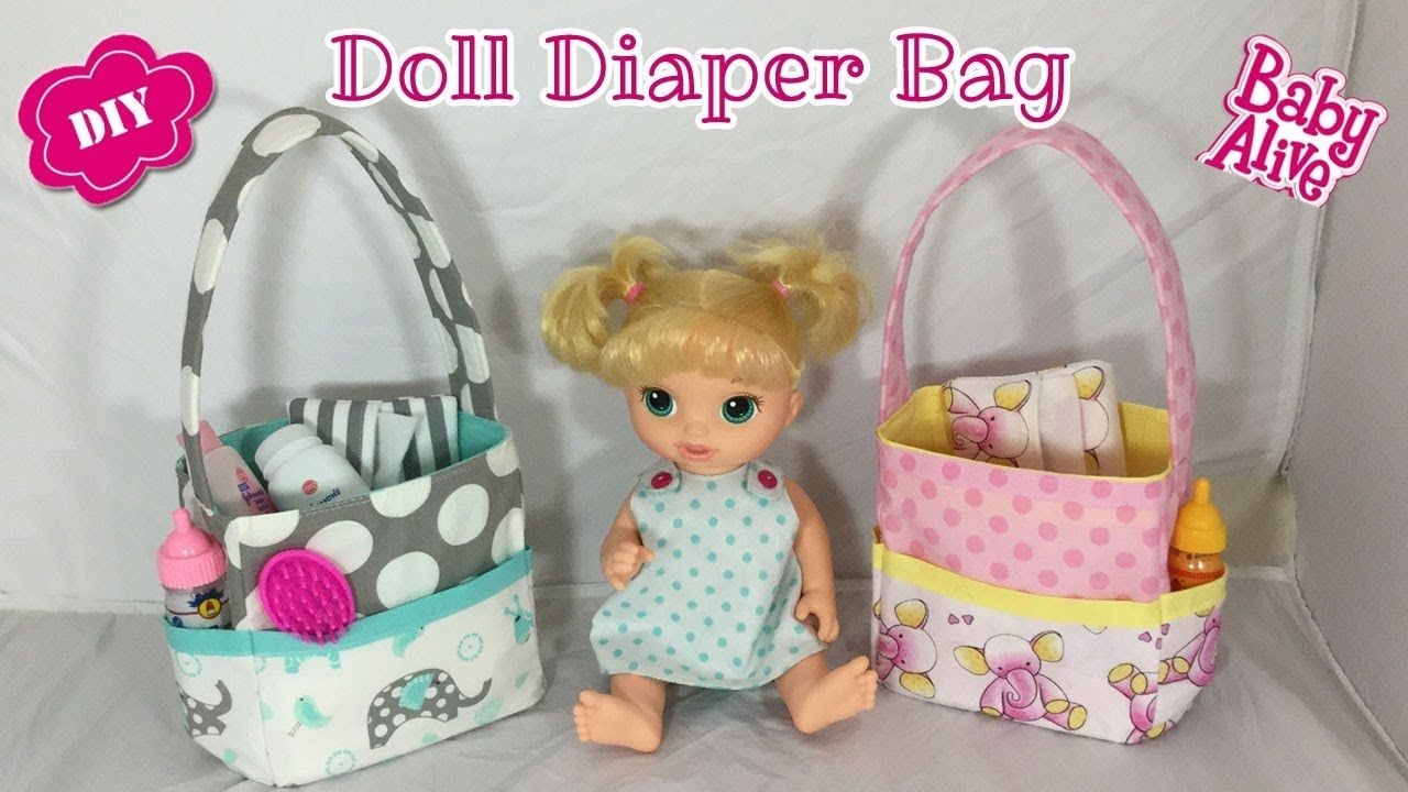 Diy Free Pattern For A Doll Diaper Bag Baby Alive