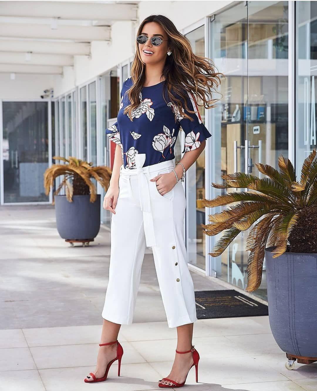 0e3cb34ea1 Calça pantacourt + blusa floral ! Look lindo da nossa coleção Verão 2019 !  🌺 Tamanho
