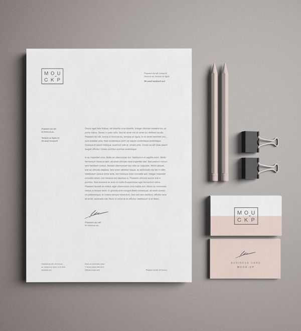 Psd Corporate Letterhead Template 000401: Free Advanced Branding & Stationery Psd Mockup