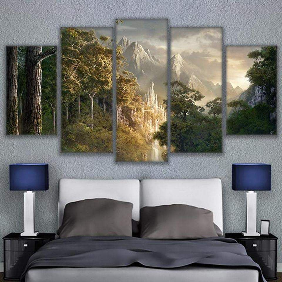 Gondor Castle Lord Of The Rings Movie Canvas Wall Art Canvas Art Wall Decor Canvas Home Customized Canvas Art