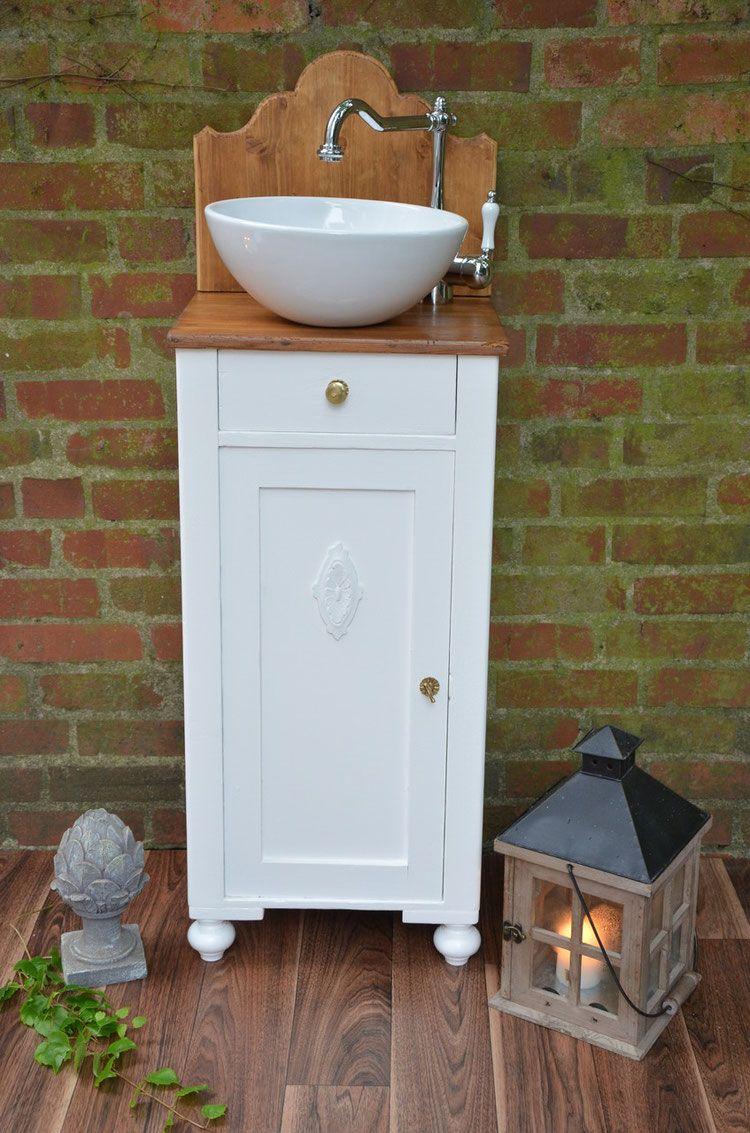 Verkauft Evry Nostalgischer Waschtisch Landhaus Badezimmer Badunterschrank Inkl Becken Waschtisch Waschtisch Vintage Badezimmer Shabby