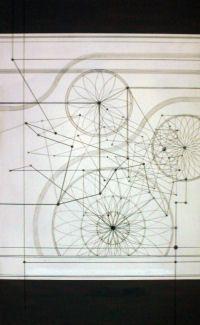 """Lucia Marchi """"IDA 13giugno2014 RELAZIONI """". Acrilico su tavola MDF 45x60 cm circa."""