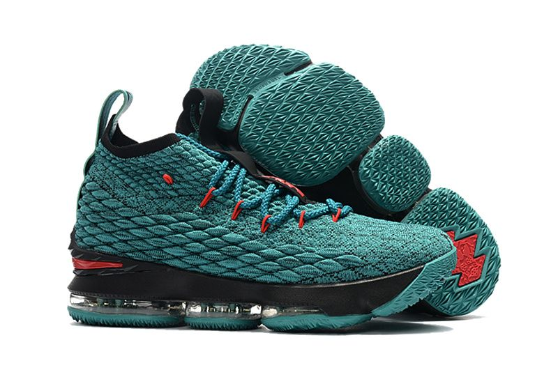 Nike LeBron 15 Turquoise JadeBlackRed Basketball Shoes For Sale  New  Jordans