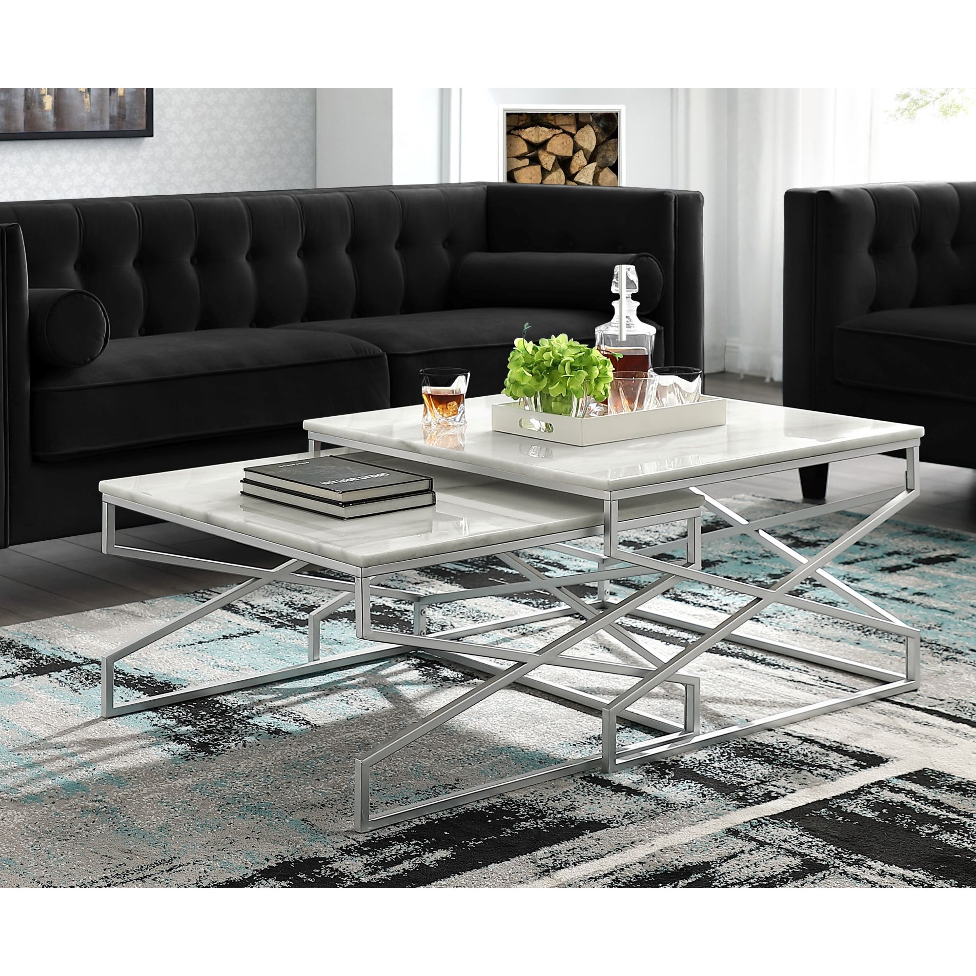 Malou Square Top Nesting Coffee Table In 2021 Nesting Coffee Tables Coffee Table Silver Coffee Table [ 2000 x 2000 Pixel ]