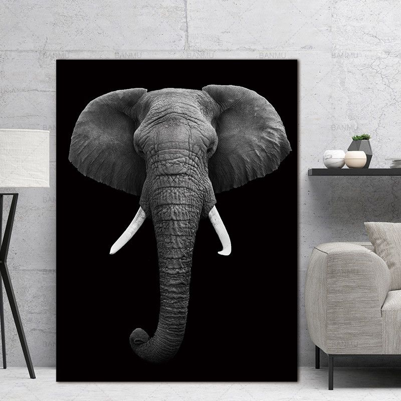Wall Art Pictures animal canvas painting black and white art Wall poster home decor print on canvas decoration for living room images