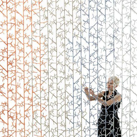 amass modular space divider by benjamin hubert for 100% design, Innenarchitektur ideen