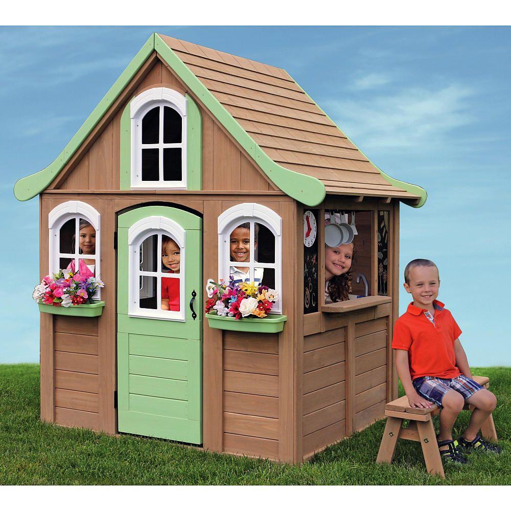 Big backyard forestview cedar playhouse cedar playhouse for Diy kids outdoor playhouse